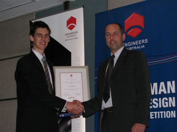 Applidyne sponsors 2009 Young Mechanical Engineer of the Year Award