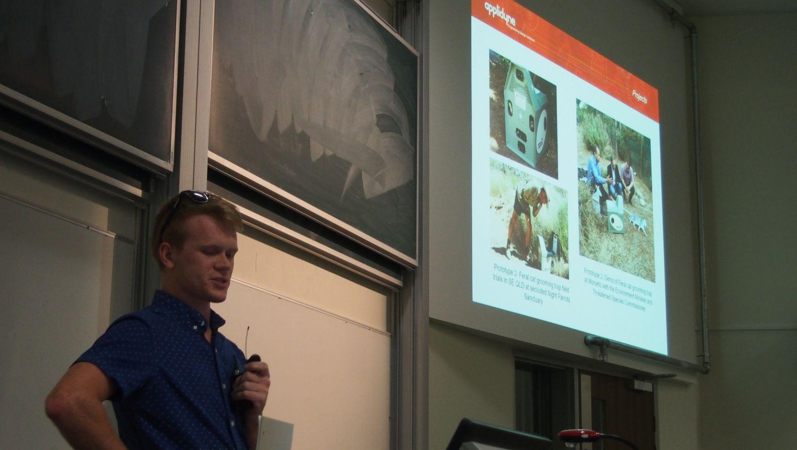 Applidyne Engineering Scholarship winner visits Adelaide Uni