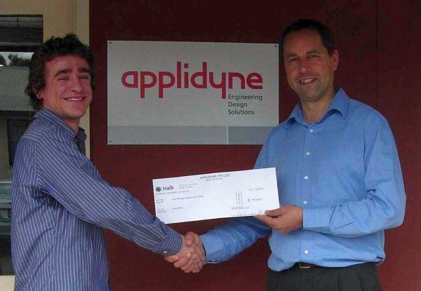 2008 Applidyne Engineering Design Scholarship awarded